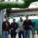 Myself, my parents and my brother Paul at the giant World Serpent