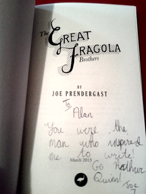 Joe was kind enough to sign the books for me!