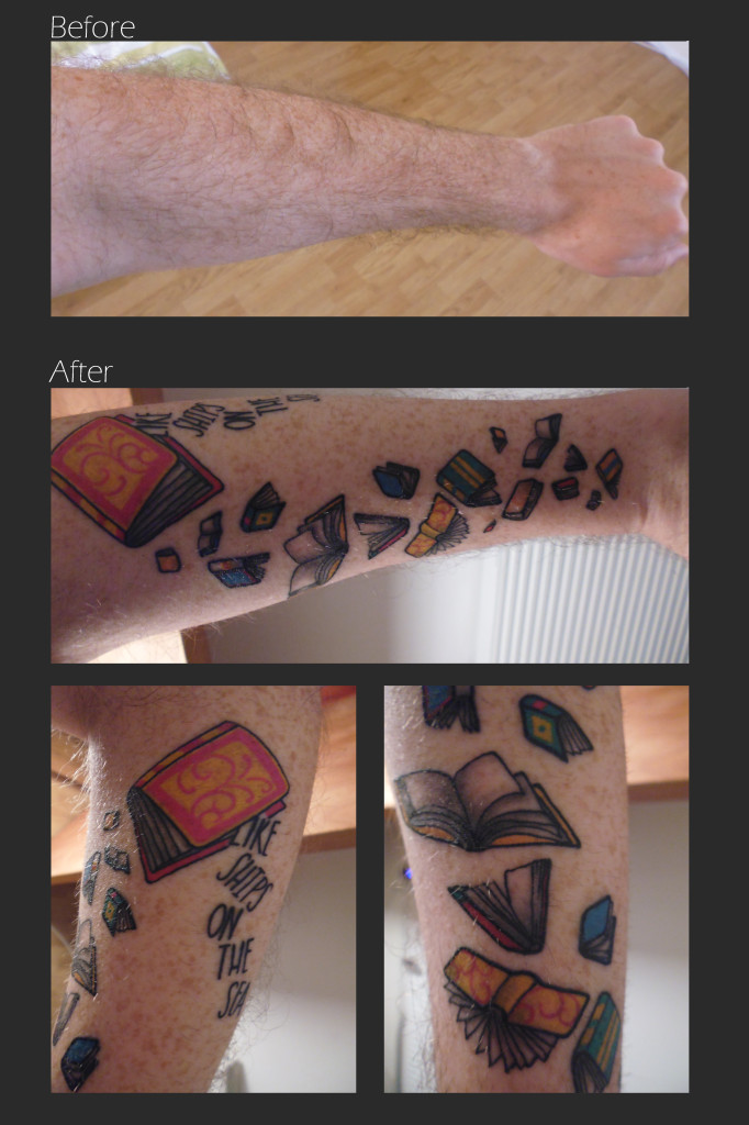 before and after - tattoo